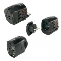 Ansmann 1809-0000 All in One 3 Universal-Reiseadapter für Geräte der Schutzklasse I und II